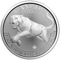1oz Canadian Silver Cougar 9999